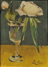 peonies in a glass by leon karp