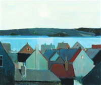 houses near mariager fjord by bírge ibsen