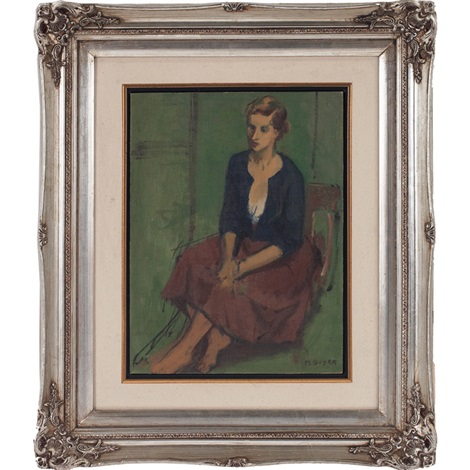 seated woman by moses soyer