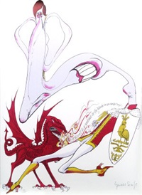 prince charles's investiture (set of 10) by gerald scarfe