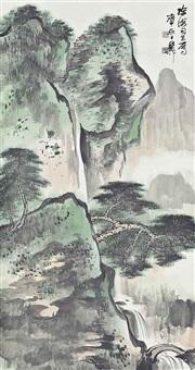 green landscape by xie zhiliu