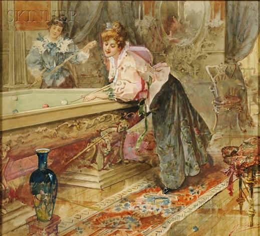 genre and allegorical scenes (4 works) by g. frederick kaber