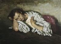 mujer dormitando by francisco serra