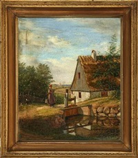 farm idyll by christian (jens c.) thorrestrup