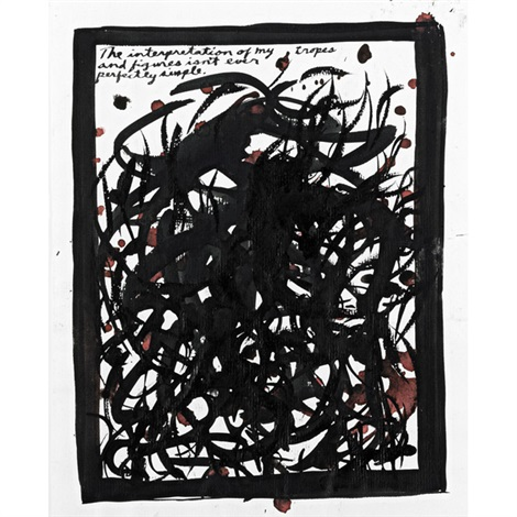 untitled the interpretation of my tropes and figures isnt ever perfectly simple by raymond pettibon