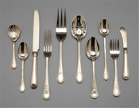 flatware in hester bateman pattern (set of 54) by c.j. vander ltd