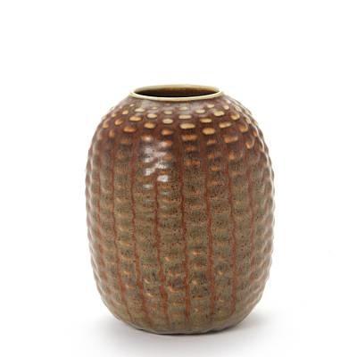 vase modelled in budded style by axel johann salto