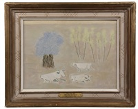 three cows by milton avery