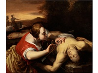 die wundenpflege des heiligen sebastian by orazio gentileschi