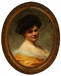 portrait of a young lady by edouard cabane