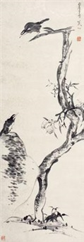 双鹭图 by bada shanren