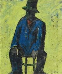 uomo seduto by mario sironi
