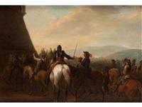 kavallerie vor der festung by august querfurt