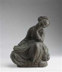 seated lady by libero andreotti