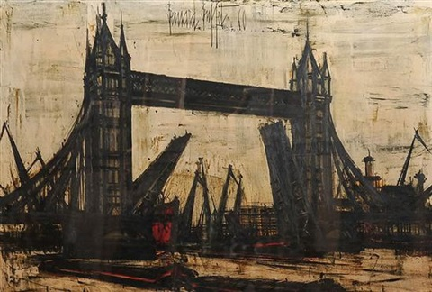 london bridge by bernard buffet