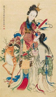 献寿图 by huang shanshou