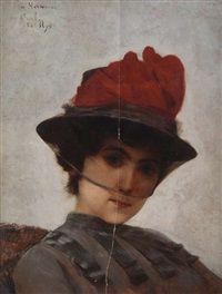 portrait d'une fille by carl nys