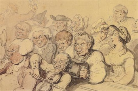 the rustic choir by thomas rowlandson