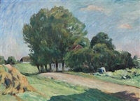 landscape with country road by sigurd swane