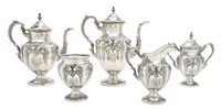 tea and coffee service (set of 5) by fisher silversmiths (co.)