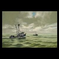 fishing boats at sea by darwin duncan
