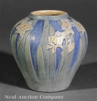 vase decorated by anna frances simpso by newcomb college pottery