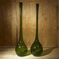 vases (pair) by aseda glasbruks aktiebolag