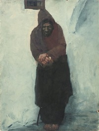 a rest in the souk by erich wolfsfeld