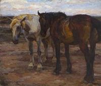 zwei pferde by emanuel hegenbarth