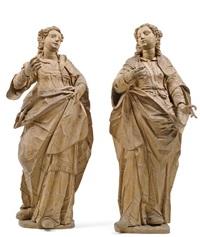 weibliche heilige (pair) by hans degler