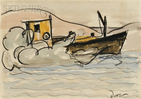 oil boat by arthur dove