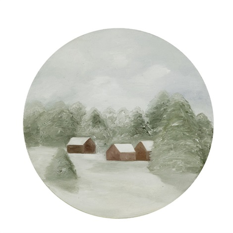 snowy painting no3 by maureen gallace