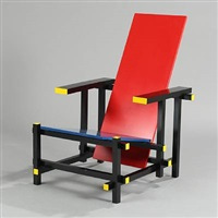 red & blue armchair by gerrit thomas rietveld