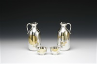 sake service (set of 4) by koji yamakawa