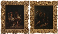 boys eating melon; boys eating grapes and melon (pair) by bartolomé esteban murillo