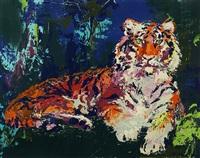 caspian tiger by leroy neiman