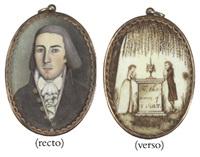 a miniature portrait of a gentleman (thomas coit?) by isaac sanford