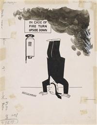in case of fire turn upside down by tom wesselmann