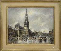 grand place animée by simon van gelderen