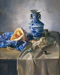blue-and-white by zhang wenliang