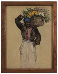 hagar, with basket on her shoulders by elizabeth o'neill verner