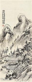 深山农居 立轴 水墨纸本 by xiao junxian