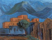 atles kloster bei chania auf kreta by rudolf ahlers