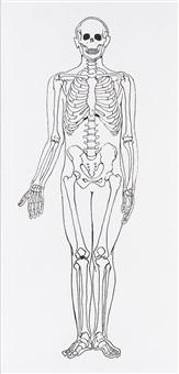 serie mensch ii, frau und skelett (2-teilig) by katharina fritsch