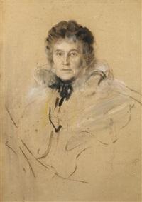 damenporträt by franz seraph von lenbach