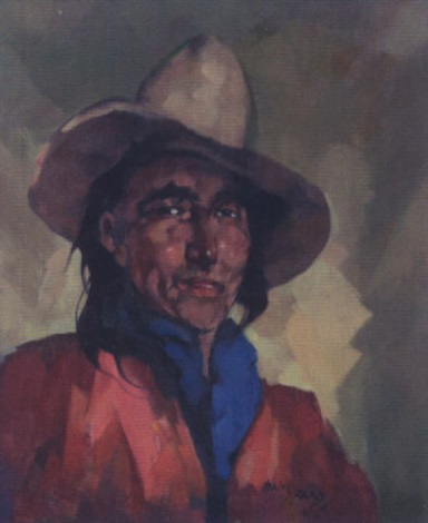 indian portrait by hans paap