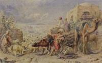 an egyptian watering hole by william j. (webbe) webb