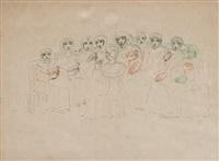 kvinnor med duvor i händerna (women with doves in their hands) by carl fredrik hill
