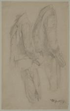 zwei gewandstudien eines stehenden mannes by carl spitzweg