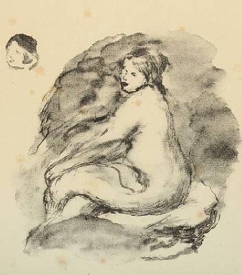 etude de femme nue assise vanante by pierre auguste renoir